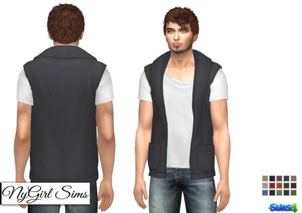 NY Girl Sims: Sleeveless Boho Sweater with White Tee by NYGirlSims