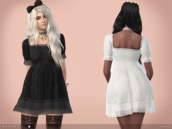 The Sims Resource: Sunset Dress by toksik