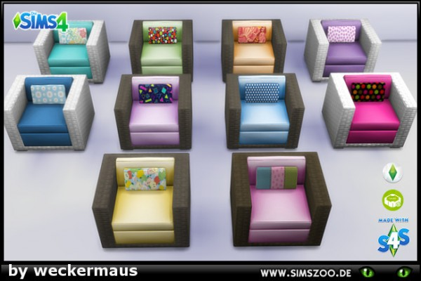 Blackys Sims 4 Zoo: Sessel Outdoor