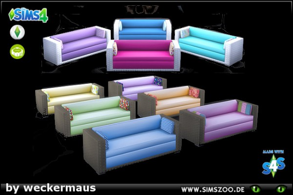 Blackys Sims 4 Zoo: Outdoor 2 Couch by weckermaus