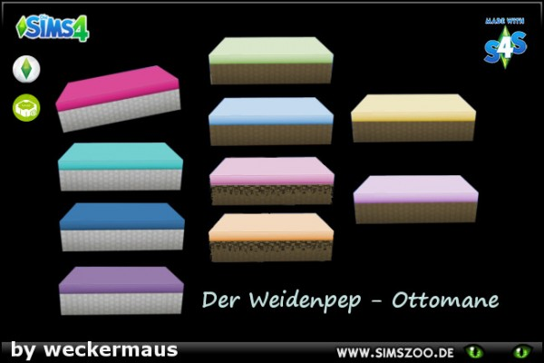 Blackys Sims 4 Zoo: Outdoor Ottomane by weckermaus