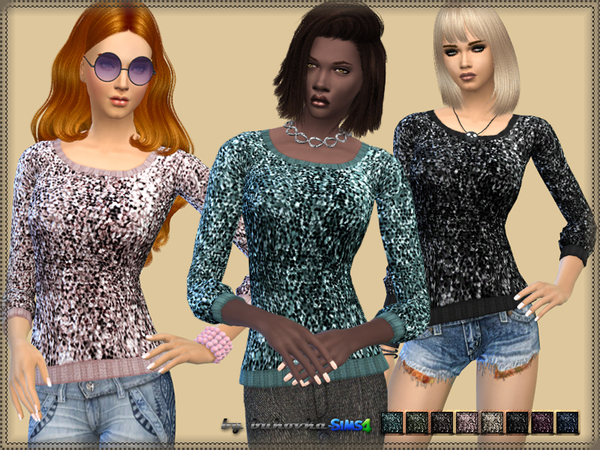 The Sims Resource: Sweater Sequins by Bukovka