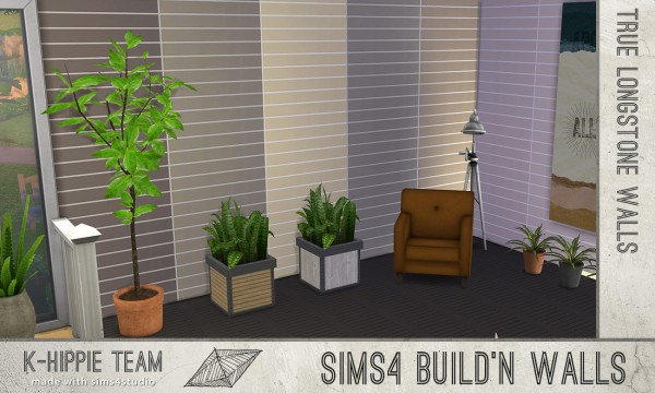 Mod The Sims: 7 Longstone Walls   Natural Tone   volume 1 by Blackgryffin