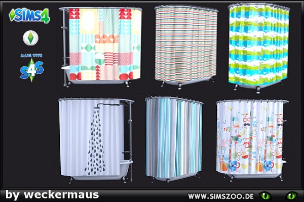 Blackys Sims 4 Zoo Shower Curtain By Weckermaus