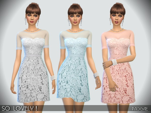 The Sims Resource: SoLovely! dress by Paogae