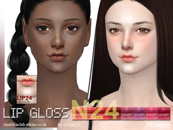 The Sims Resource: Lipstick 24 F by S Club