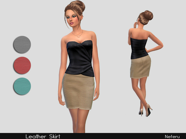 The Sims Resource: Leather Skirt by Neferu