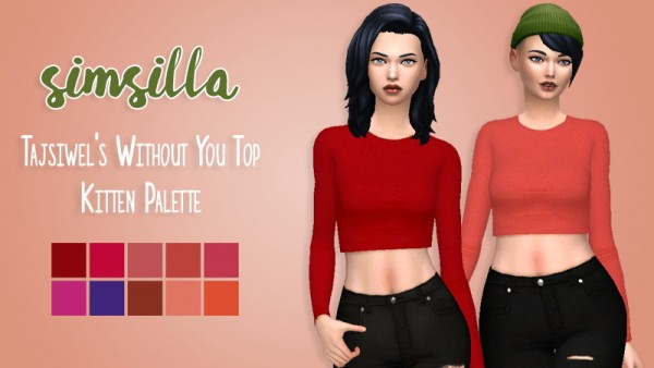 Simsworkshop: Tajsiwels Without You Top Recolor by Simsilla