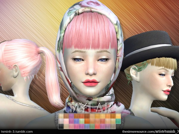 The Sims Resource: Taylar Hairstyle 5 by tsminh 3