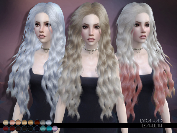 The Sims Resource: LeahLillith Lyra Hair