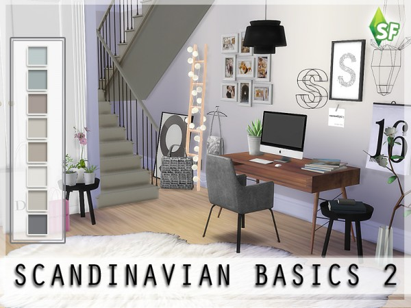 The Sims Resource Scandinavian Wall Set By Simfabulous
