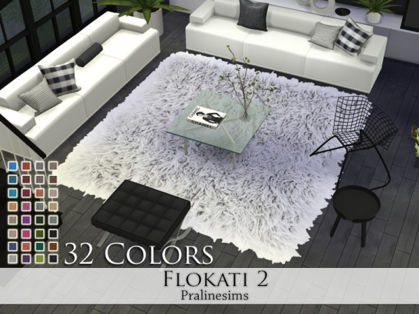 The Sims Resource Flokati 2 Rugs By Pralinesims Sims 4