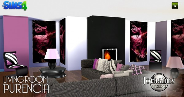 Jom Sims Creations: Purencia livingroom