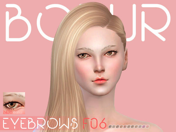 The Sims Resource: Eyebrows F06 by Bobur
