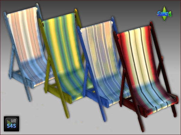 Arte Della Vita: A beachset including chair and canopy in 4 colors