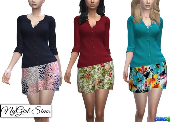 NY Girl Sims: Sundress with Cardigan Sweater