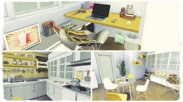 Dinha Gamer: Yellow Kitchen with Desk