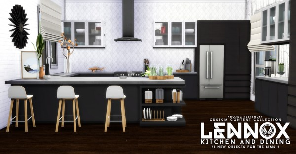 Simsational Designs Lennox Kitchen And Dining Set Sims