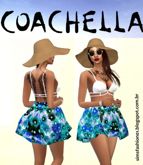 Sims Fashion 01: Coachella