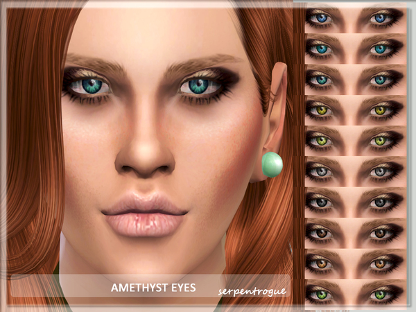 The Sims Resource: Amethyst Eyes by Serpentrogue