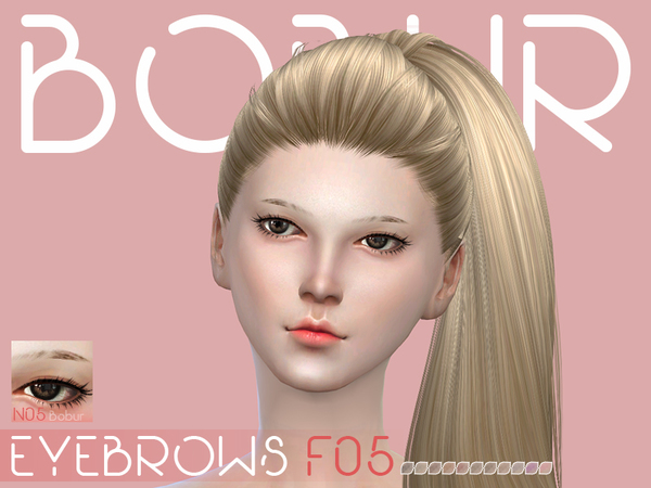 The Sims Resource: Eyebrows F05 by Bobur