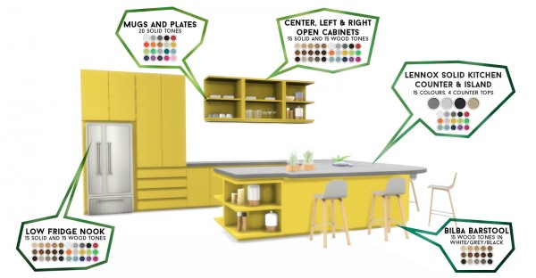 Simsational designs: Lennox Kitchen And Dining Set