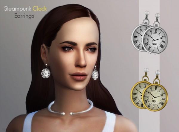 Alecai Sims: Steampunk Clock Earrings