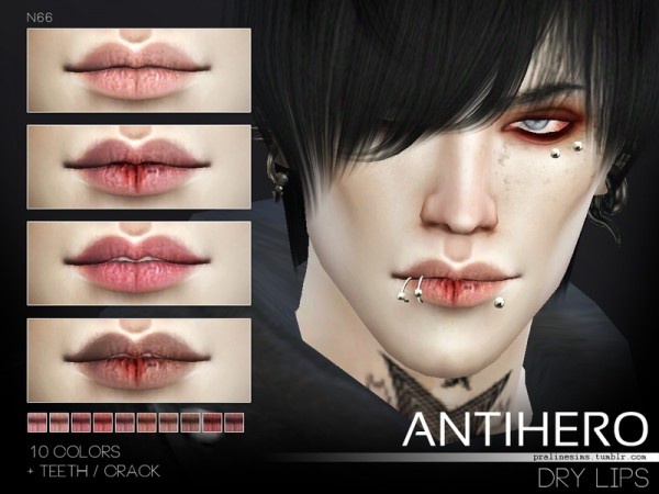 The Sims Resource: Antihero Makeup Set by Pralinesims