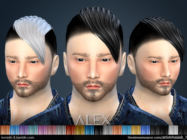 The Sims Resource: ALEX  Hairstyle 3 by tsminh 3