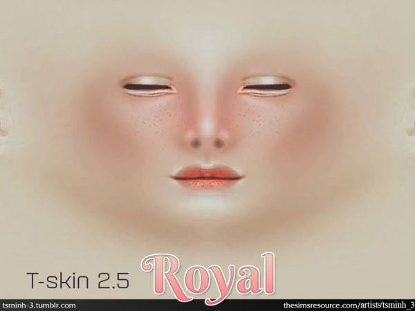 The Sims Resource: T Skin 2.5   ROYAL SKIN by tsminh 3