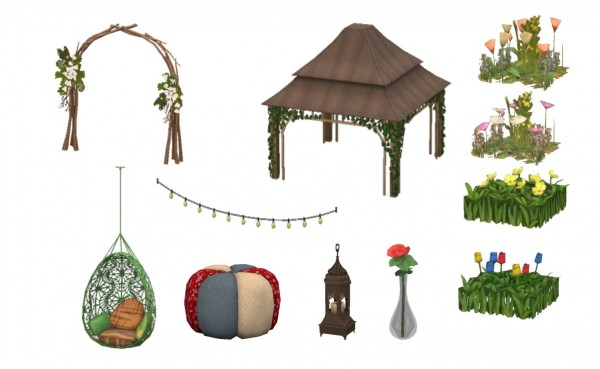 how to make a garden on sims 3