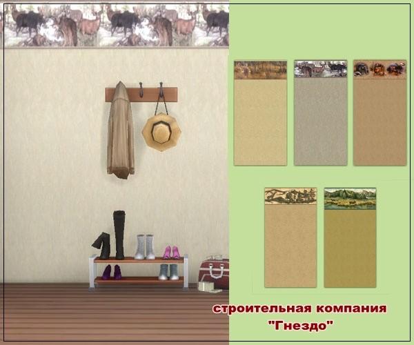 Sims 3 by Mulena: Deer walls