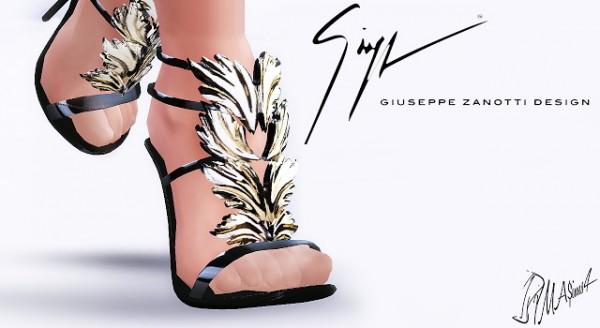 MA$ims 3: Gold Leaf Sandals