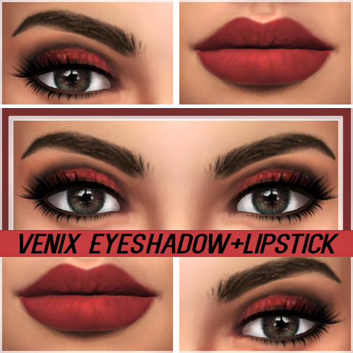 Kenzar Sims: Venix eyeshadow and Lipstick