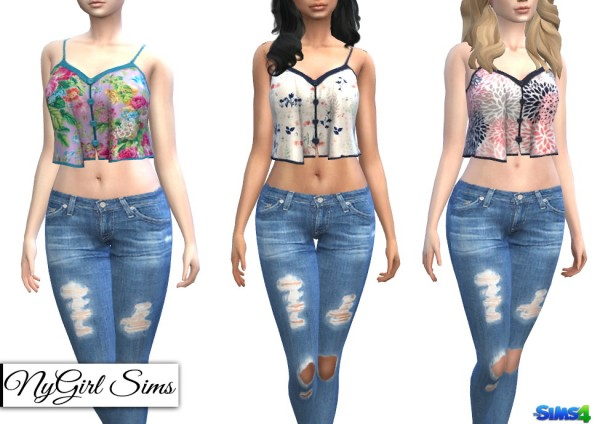 NY Girl Sims: Movie Hangout Tank in Prints