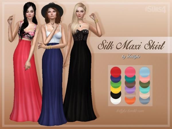 Trillyke: Silk maxi dress