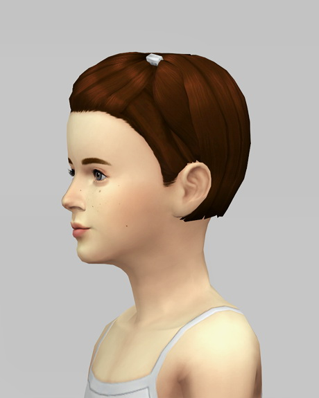 Rusty Nail: Med clipped back hairstyle