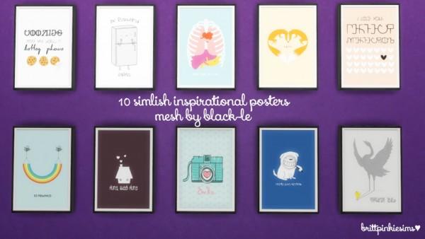 Brittpinkiesims: Simlish Inspirational Posters