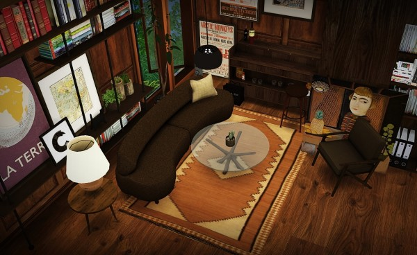 MXIMS: Awesims Curve Living Set
