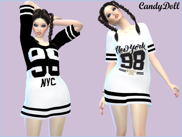 The Sims Resource: CandyDoll Cool Sporty Tees by DivaDelic06