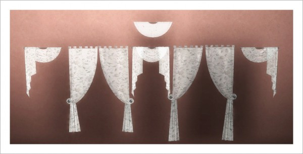 Sims 4 Designs: Build Your Own Curtains by Simplan X