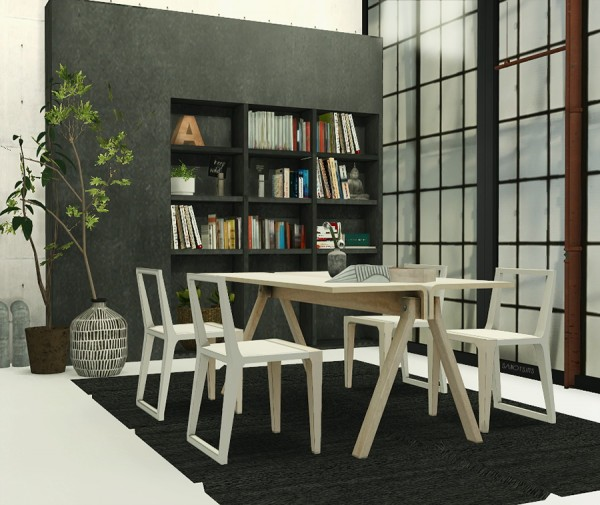 Sims 4 Cc S The Best Windows By Tingelingelater: Welcome: Anye Barca Dining Set Riekus13 • Sims 4 Downloads