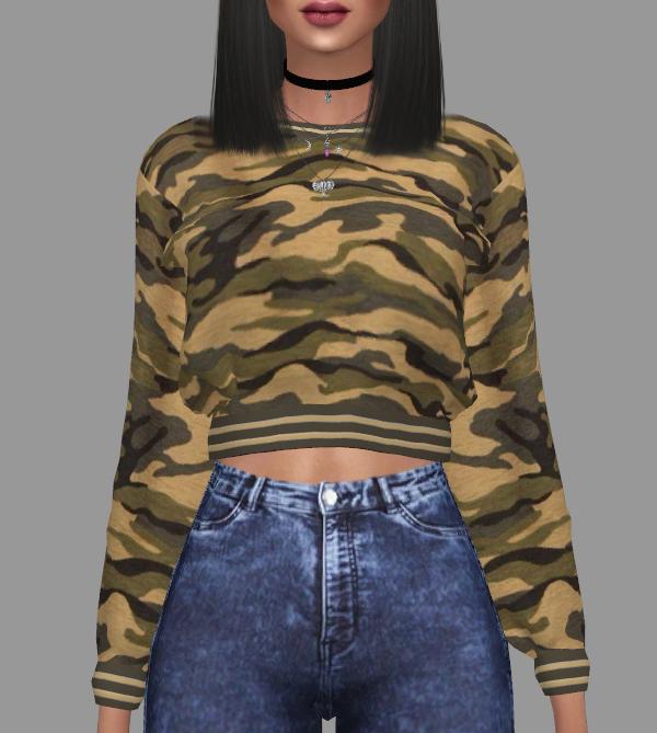 Kenzar Sims Marigold Sweatshirt Retextured Sims 4 Downloads