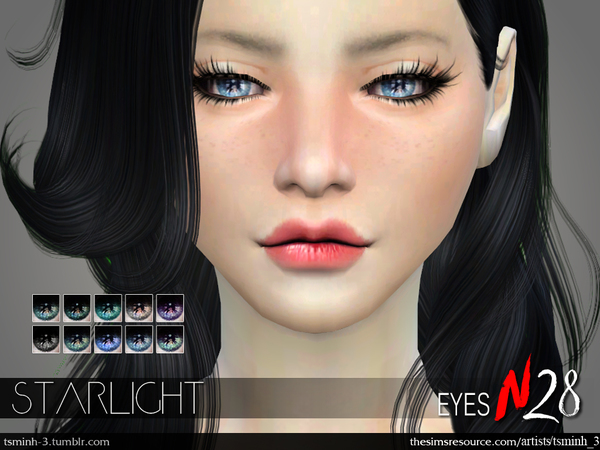 The Sims Resource: Starlight Eyes by tsminh 3