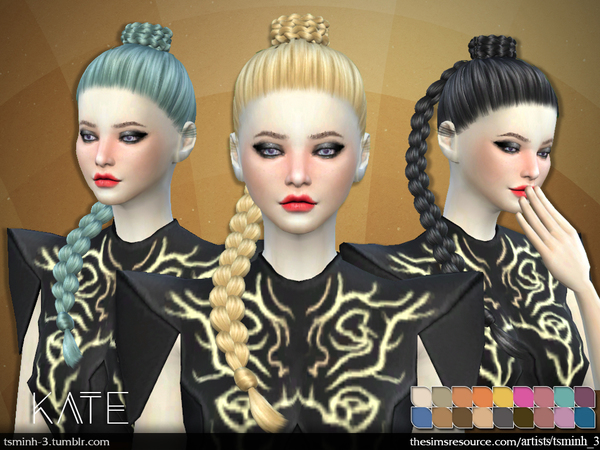 The Sims Resource: Kate Hairstyle 7 by tsminh 3