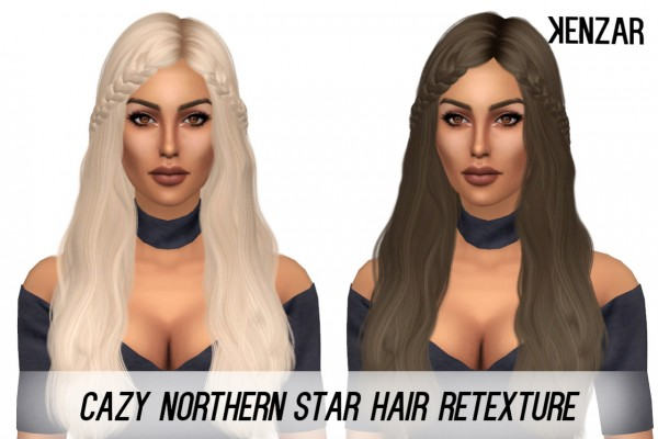 Kenzar Sims: Cazy's Northern Star hair retextured