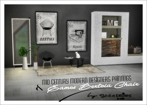 Sims 4 Designs: Mid Century Modern Designer Paintings and