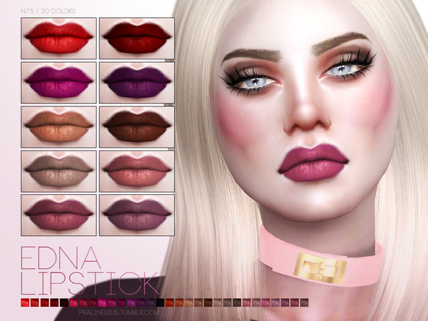 The Sims Resource: Edna Lipstick N75 by Pralinesims