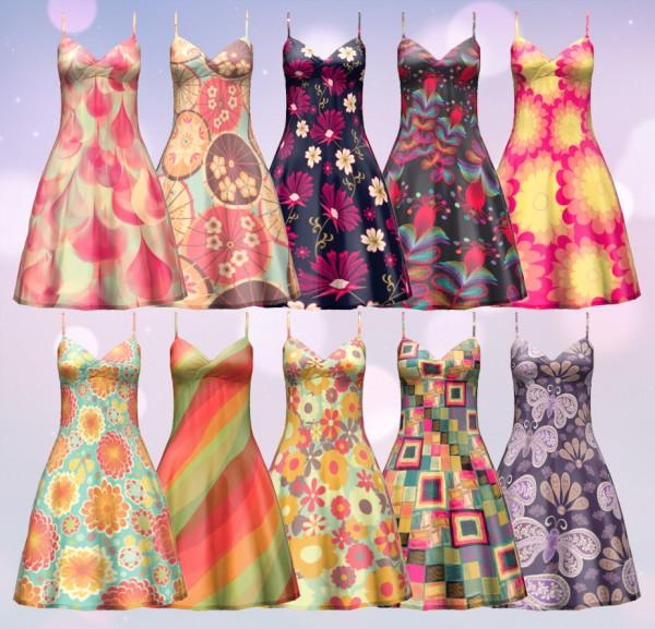 Aveira Sims 4 Summer Flavor Dress Sims 4 Downloads