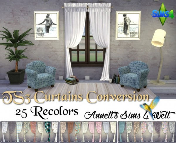 Annett`s Sims 4 Welt: Curtains Converted from TS3 to TS4   Part 1